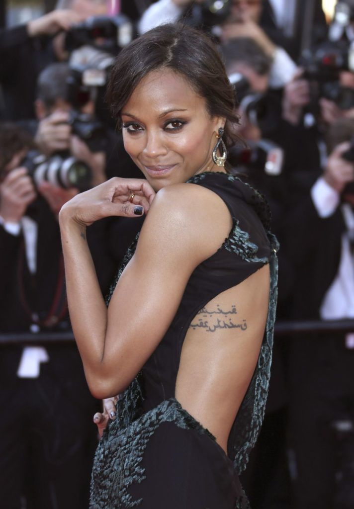 Zoe Saldana Tattoos Wallpapers