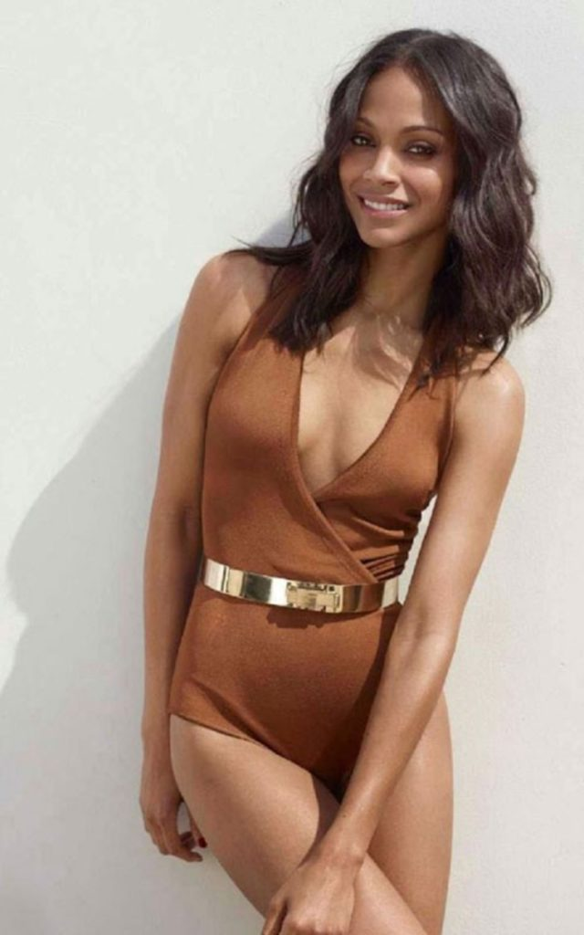 Zoe Saldana Undergarments Wallpapers