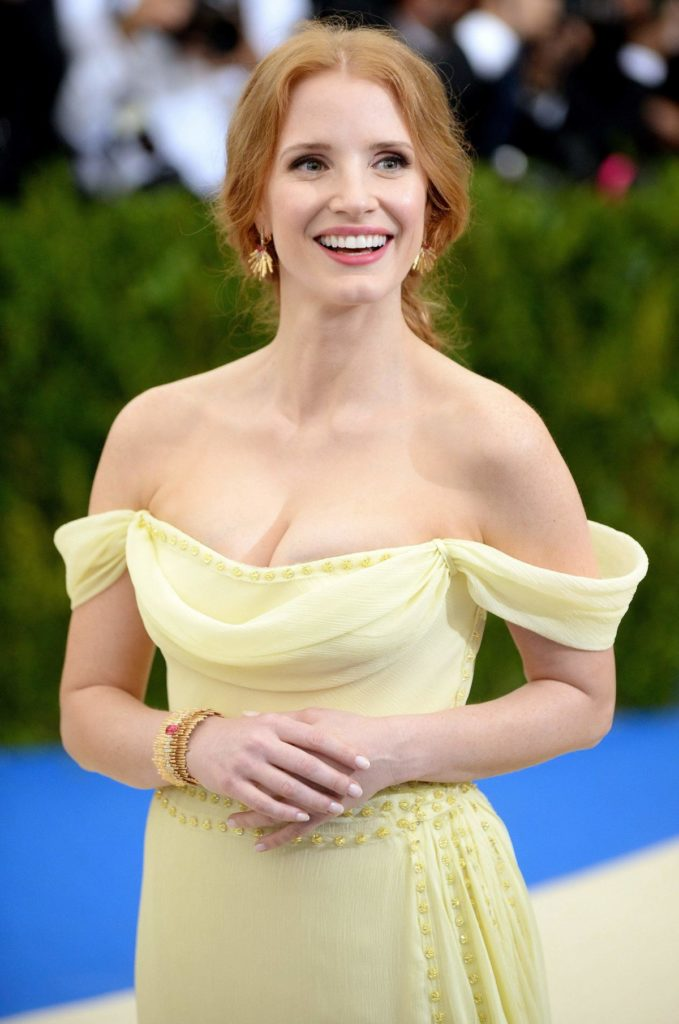 Jessica Chastain Without Bra Pics