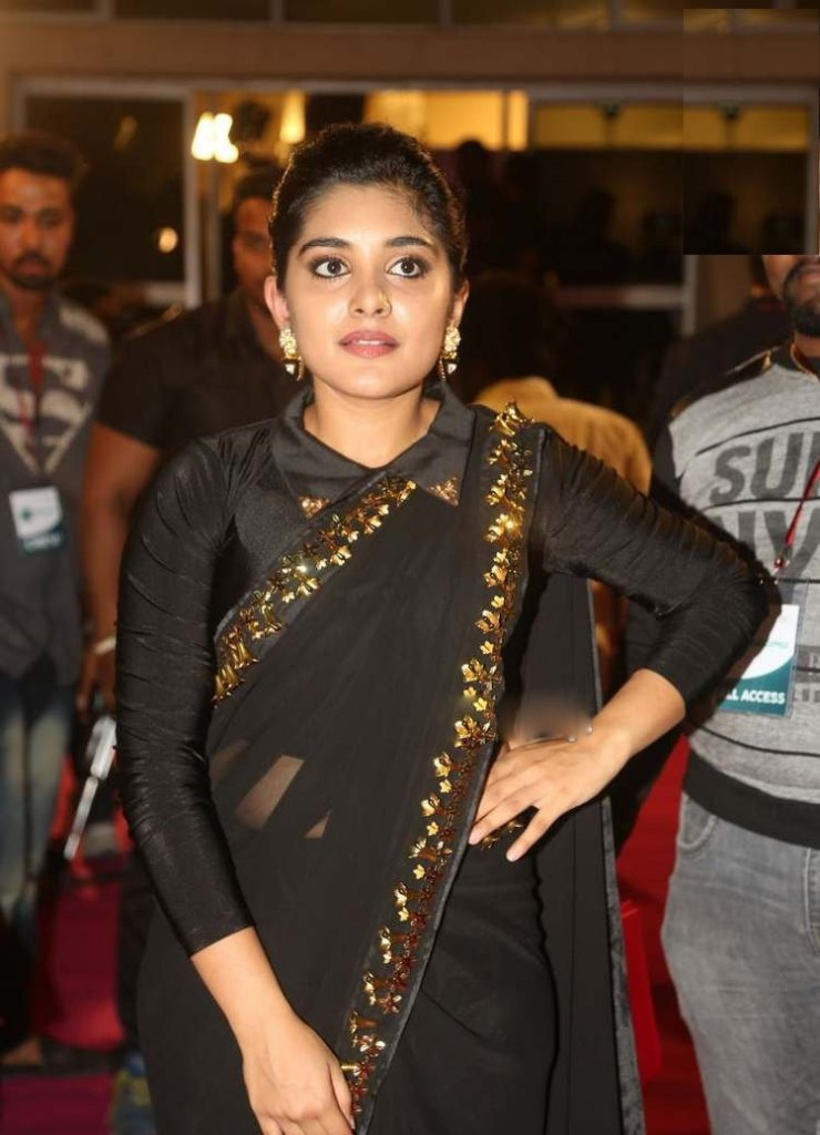 Nivetha Thomas Saree Images